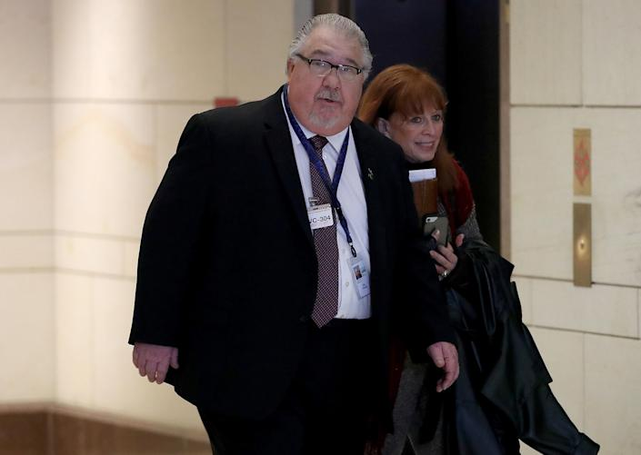 Sam Clovis arrives at the Capitol to appear before a closed meeting of the House Intelligence Committee, Dec. 12, 2017. (Photo: Win McNamee/Getty Images)