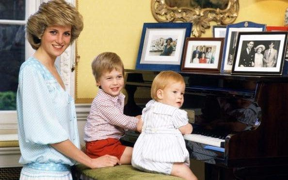 Princess Diana with her sons, William and Harry - Getty