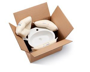 FOAMplus® foam packaging is especially light, takes on the exact shape of the shipped goods, and reliably absorbs knocks. Image: Storopack