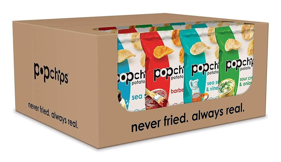 <p>This <span>Popchips Potato Chips Variety Pack</span> ($24) will satisfy your chips craving.</p>