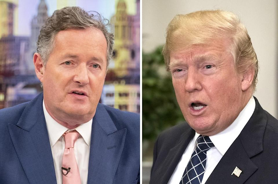 Piers seemed to be very much #TeamTrump. Copyright: [Rex]