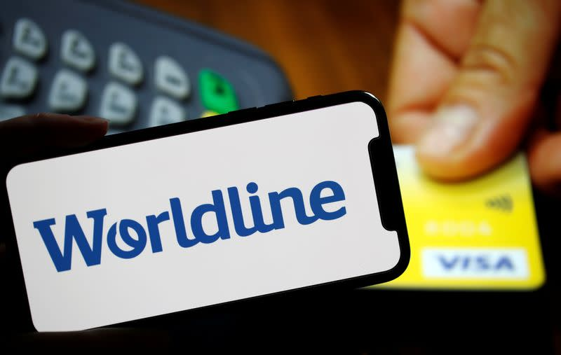 Illustration picture shows a logo of payments company Worldline
