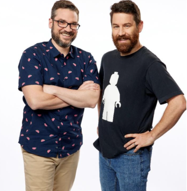 David and Gus on lego masters in 2021