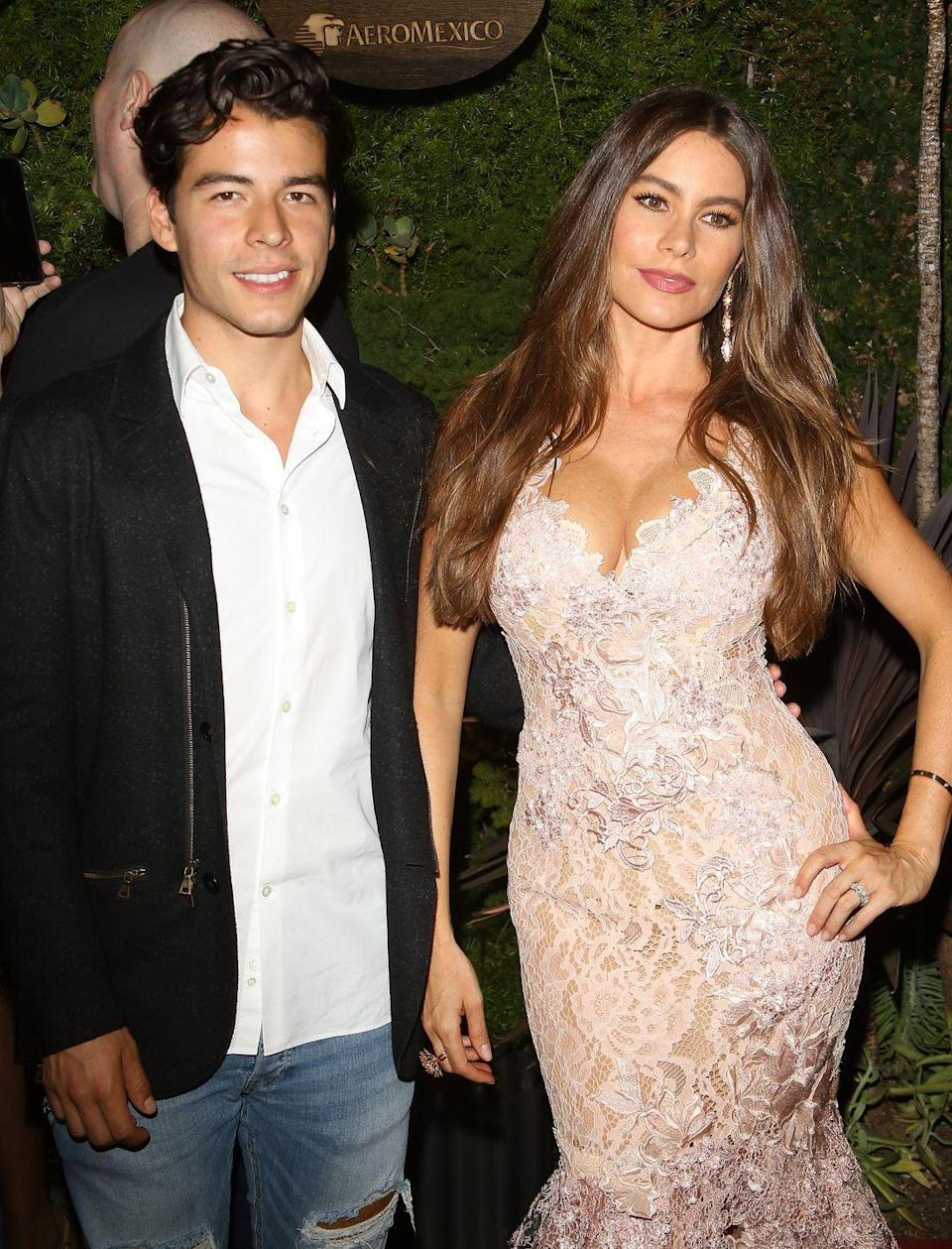 <p>Sofía Vergara gave birth to her son Manolo Gonzalez-Ripoll Vergara in 1992 when she was just 19 years old. She had married her high school sweetheart, Joe Gonzalez, at 18. The two divorced a year after their son was born.</p>