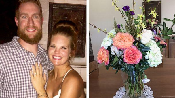 PHOTO: Keali Lay and Jeff Scheider donated their wedding flowers after their ceremony was canceled due to coronavirus. (Courtesy Keali Lay | Angela Mandigo)
