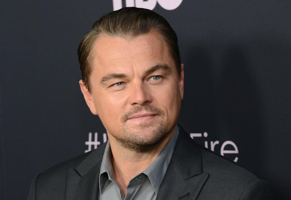 """LOS ANGELES, CA - JUNE 05:  Leonardo DiCaprio arrives fo the LA Premiere Of HBO's """"Ice On Fire""""held at LACMA on June 5, 2019 in Los Angeles, California.  (Photo by Albert L. Ortega/Getty Images)"""