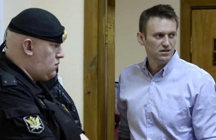 On January 15 Alexei Navalny will hear his verdict in a controversial embezzlement case which could see him sent him to prison for up to 10 years (AFP Photo/Alexander Nemenov)