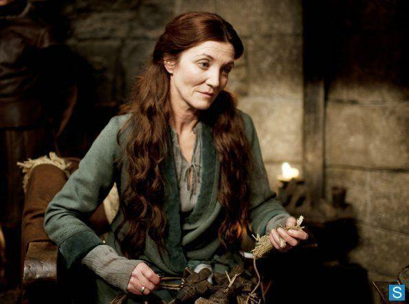 <p>We all loved Catelyn and her glorious hair, but episode one revealed some tensions between her and Jon Snow that we did not love. Can't we all just get along? </p>
