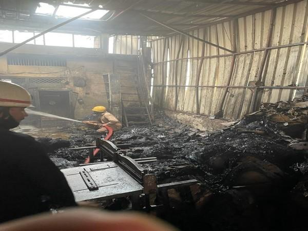 Visual from the fire incident in Delhi.