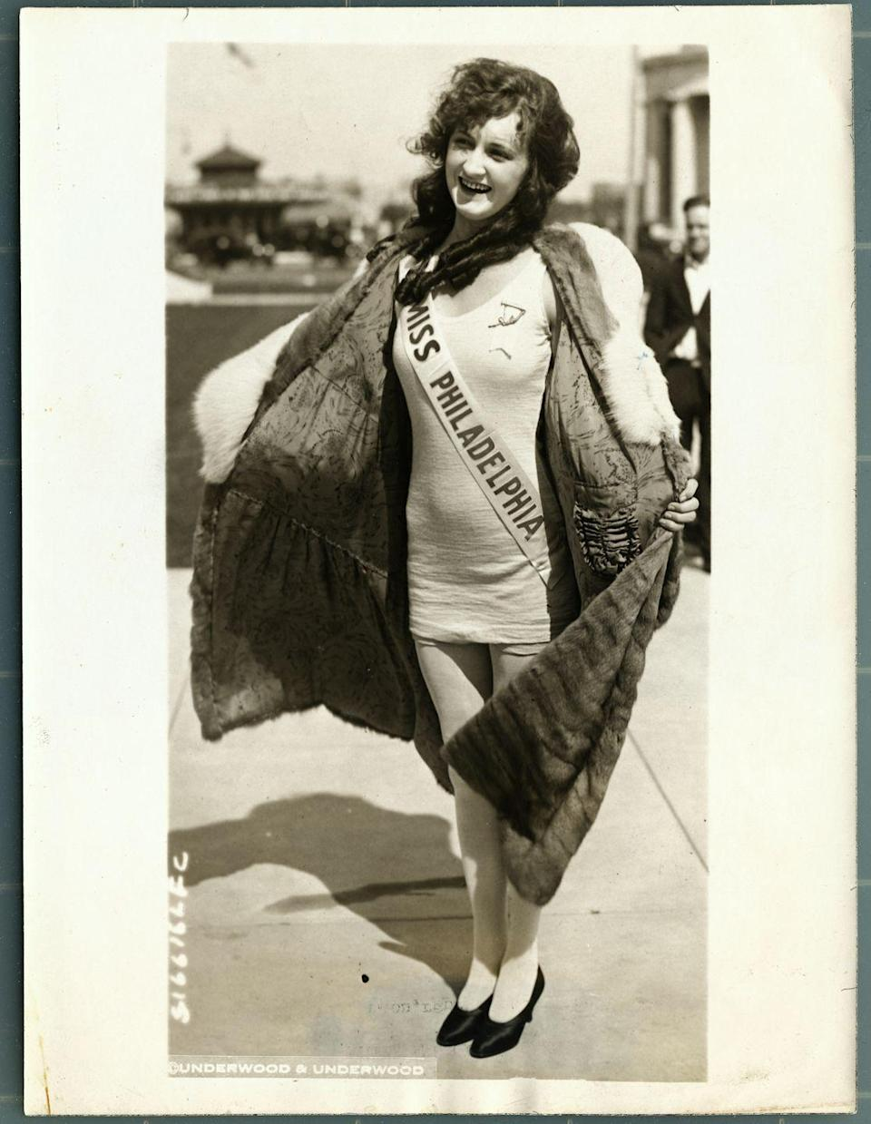 <p>Ruth Malcomson represented her home state of Pennsylvania in a swimsuit and fur-trimmed coat, and took home the coveted Golden Mermaid trophy that year.</p>