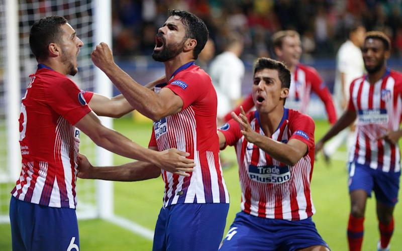 Diego Costa scored twice but was also fortunate not to be sent off - AP