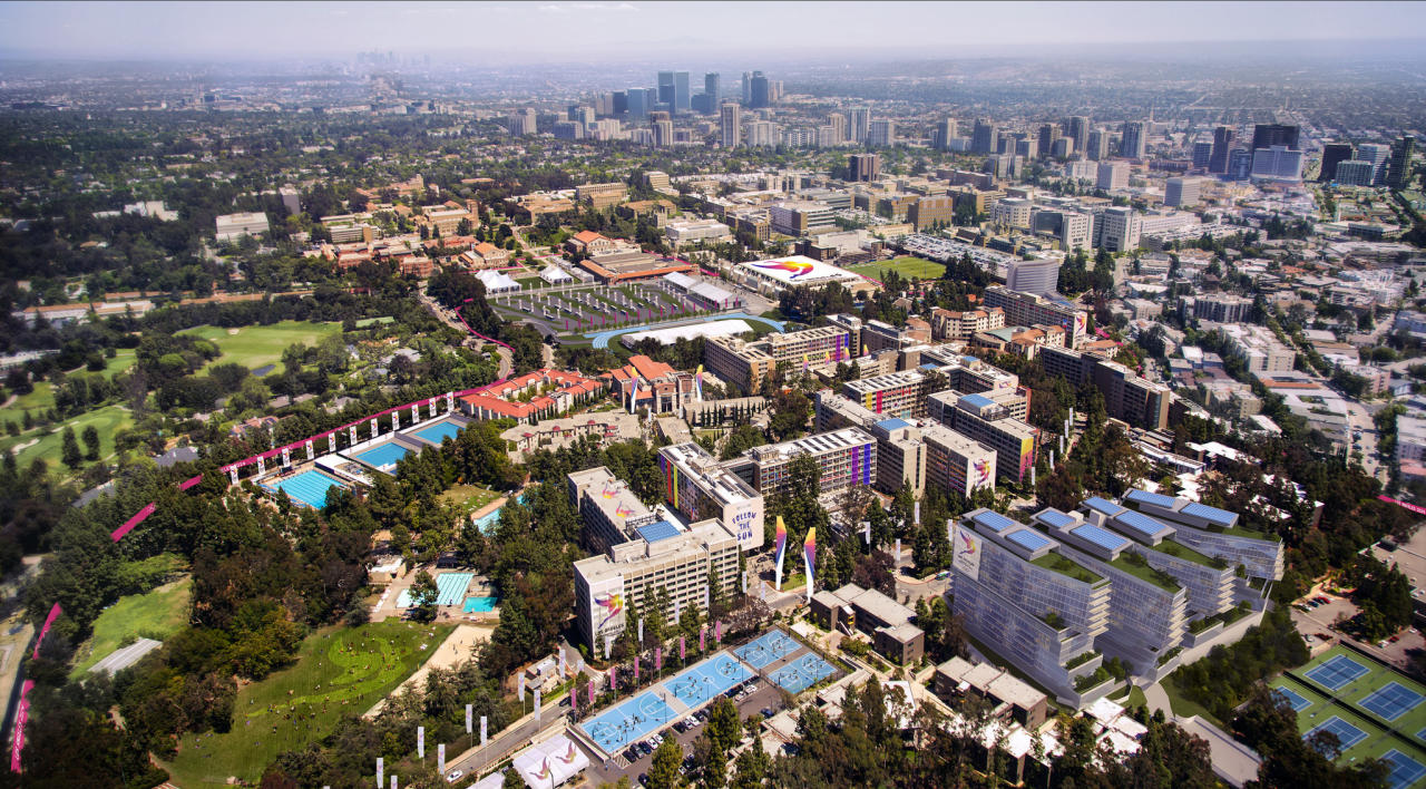 <p>Olympic village on UCLA's campus. (Photo courtesy of LA2024) </p>