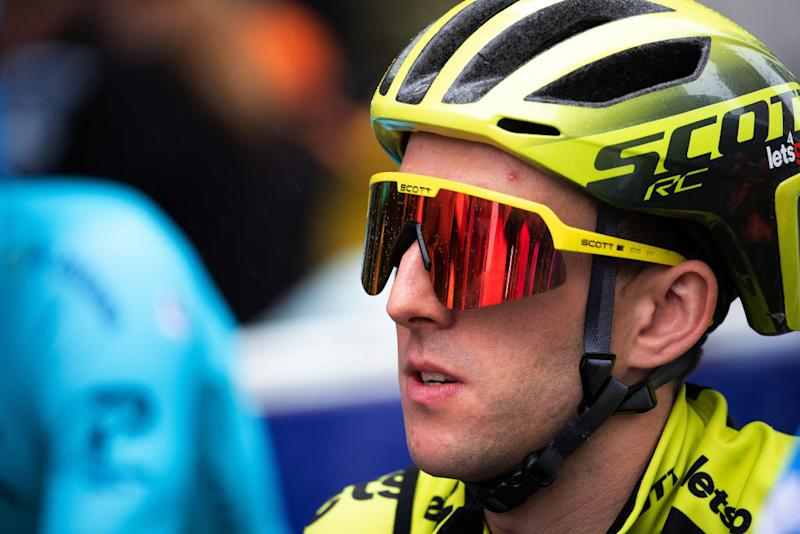 Simon Yates at the Tour Down Under before his stage 2 crash
