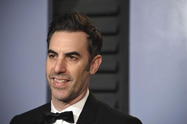 Sacha Baron Cohen trolls far-right event disguised as bluegrass singer
