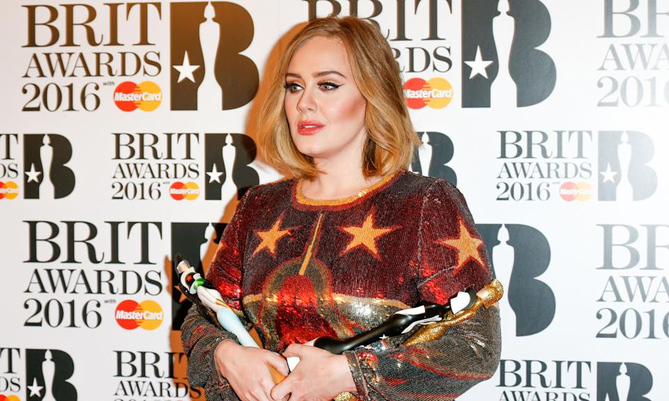 Adele has won nine BRIT Awards during the course of her career, as well as 15 Grammys. (Luca Teuchmann/WireImage)