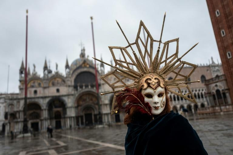 Venice kicked off its celebrated carnival this weekend - without the usual crowds of tourists