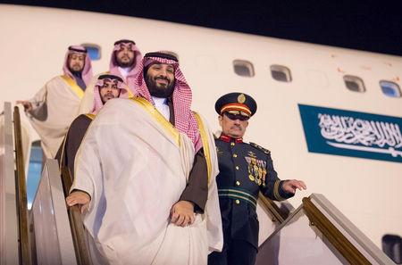 FILE PHOTO: Saudi Arabia's Crown Prince Mohammed bin Salman arrives in Algiers