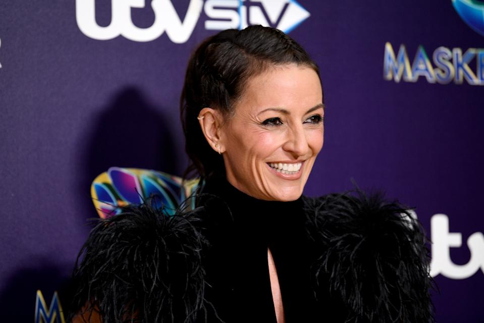 Davina McCall attending The Masked Singer press launch held at The Mayfair Hotel, London. (Photo by Scott Garfitt/PA Images via Getty Images)