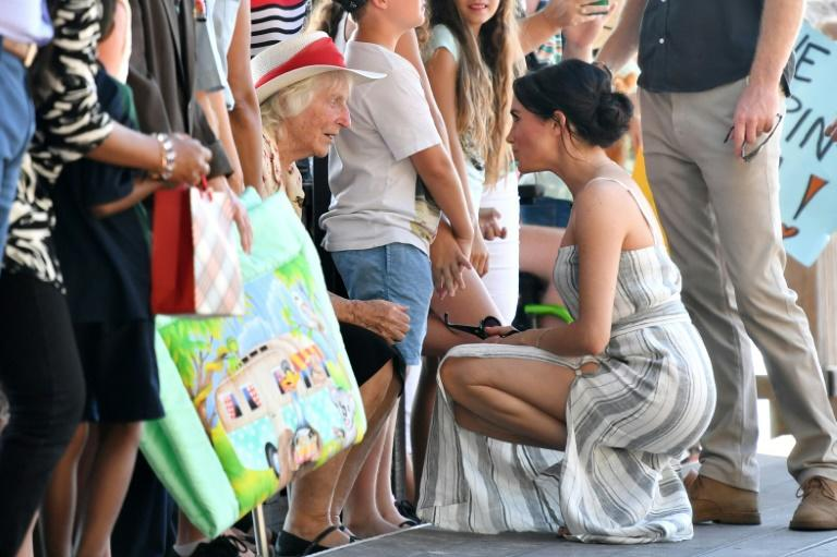 Meghan received more baby gifts -- including quilts and stuffed toys -- from the locals