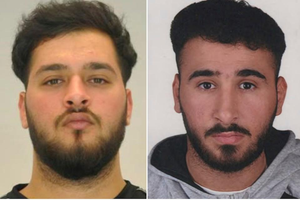 <p>Mugshots of Mohamed Remmo (L) and Abdul Majed Remmo (R) who are both wanted in connection with the theft of the jewels</p>Police Dresden via AP