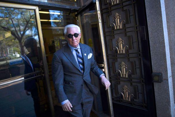 PHOTO: Roger Stone departs the courthouse for lunch during his trial, Nov. 13, 2019, in Washington, D.C. (Mark Makela/Getty Images)