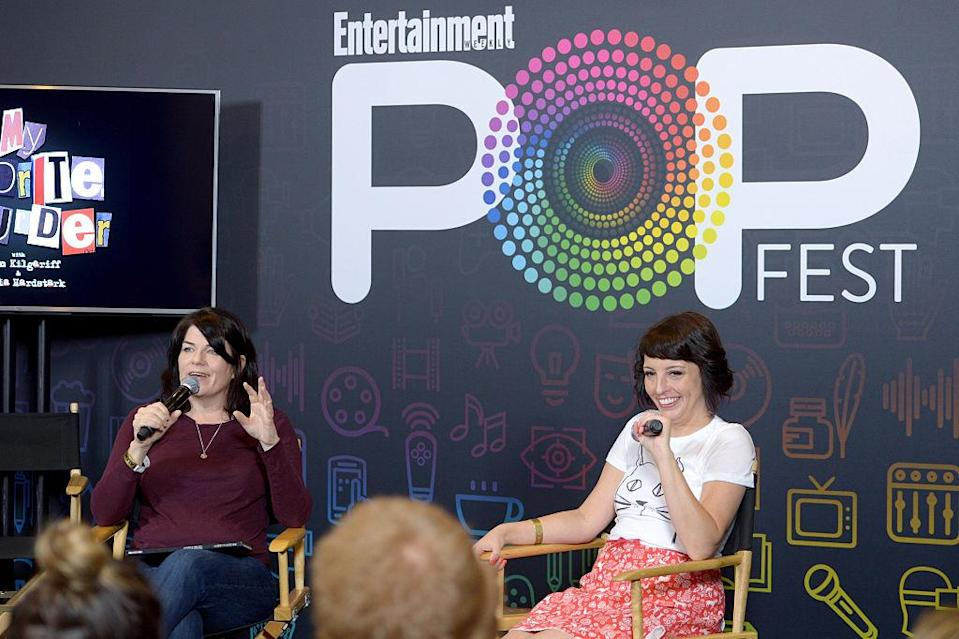 <span>Karen Kilgariff and Georgia Hardstark are h</span>osts of the popular podcast, <em>My Favorite Murder.</em> (Photo: Getty Images)