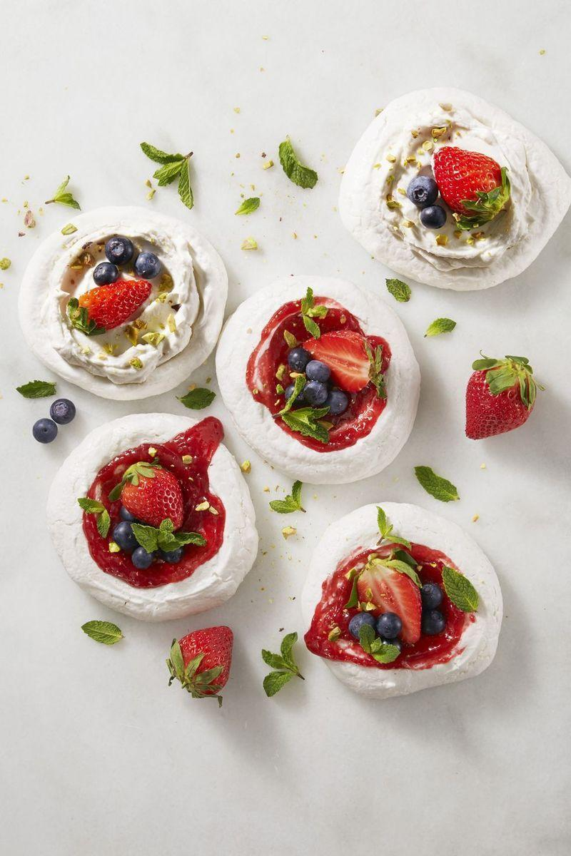 """<p>Create an <a href=""""https://www.goodhousekeeping.com/food-recipes/dessert/g5119/easy-vegan-dessert-recipes/"""" rel=""""nofollow noopener"""" target=""""_blank"""" data-ylk=""""slk:epic vegan dessert"""" class=""""link rapid-noclick-resp"""">epic vegan dessert</a> using a can of chickpeas instead of egg whites — they are just as fluffy and crunchy as the real deal. </p><p><em><a href=""""https://www.goodhousekeeping.com/food-recipes/a38871/magic-mini-pavlovas-recipe/"""" rel=""""nofollow noopener"""" target=""""_blank"""" data-ylk=""""slk:Get the recipe for Magic Mini Pavlovas »"""" class=""""link rapid-noclick-resp"""">Get the recipe for Magic Mini Pavlovas »</a></em></p>"""