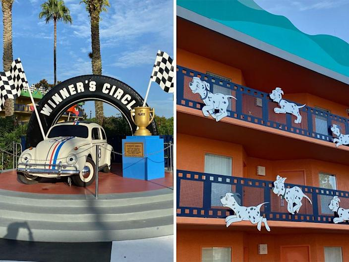 Some of the decor found at Disney World's All-Star Movies Resort.