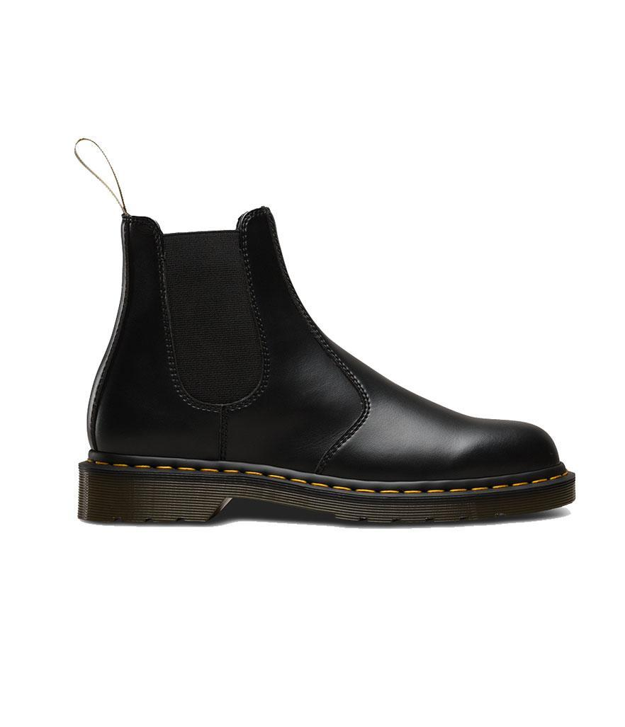 """<p>These Chelsea boots feature Dr. Martens's trademark details but they're 100 percent vegan-compliant. No animal products were used to make these boots.<br><a href=""""https://fave.co/2PdJ6jK"""" rel=""""nofollow noopener"""" target=""""_blank"""" data-ylk=""""slk:Shop it:"""" class=""""link rapid-noclick-resp"""">Shop it:</a> Vegan 2976, $145, <a href=""""https://fave.co/2PdJ6jK"""" rel=""""nofollow noopener"""" target=""""_blank"""" data-ylk=""""slk:drmartens.com"""" class=""""link rapid-noclick-resp"""">drmartens.com</a> </p>"""