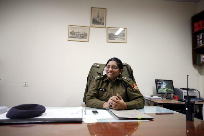 Chhaya Sharma, an IPS officer of 1998 batch, is applauded for nabbing all the criminals in the Nirbhaya Case in just under a week. (Photo by Ramesh Sharma/The India Today Group via Getty Images)