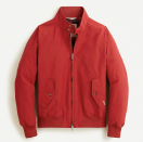"""<p><strong>Baracuta</strong></p><p>jcrew.com</p><p><strong>$459.00</strong></p><p><a href=""""https://go.redirectingat.com?id=74968X1596630&url=https%3A%2F%2Fwww.jcrew.com%2Fp%2FAP865&sref=https%3A%2F%2Fwww.esquire.com%2Fstyle%2Fadvice%2Fg2995%2Fbest-fall-coats-jackets%2F"""" rel=""""nofollow noopener"""" target=""""_blank"""" data-ylk=""""slk:Shop Now"""" class=""""link rapid-noclick-resp"""">Shop Now</a></p><p>You pretty much got the gist of James Dean's iconic red windbreaker (see intro). So, if you're looking for the right one that captures the essence of Old Holywood, look no further than Baracuta. The brand's G9 jacket is equally iconic, gracing the shoulders of Steve McQueen, Frank Sinatra, and Gregory Peck. </p>"""