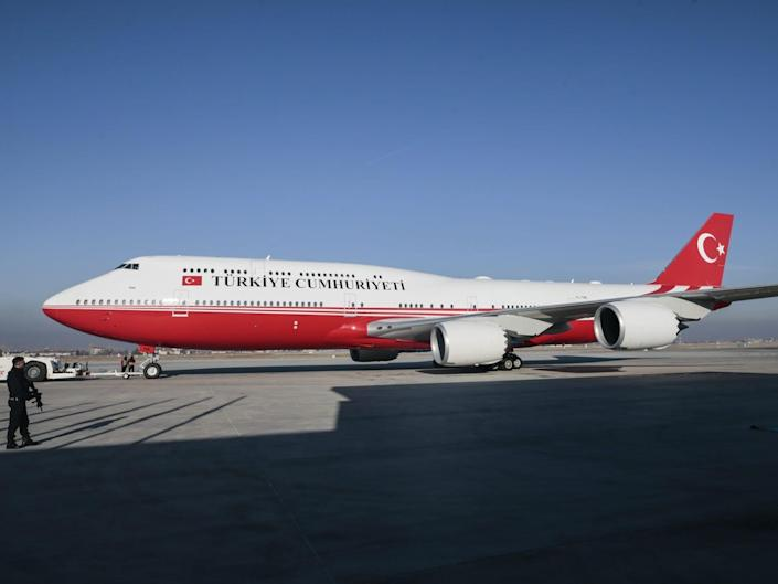Turkish government Boeing Business Jet 747-8i