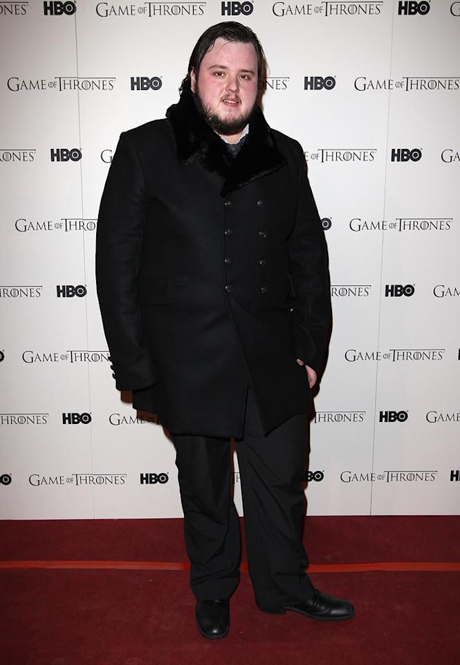 "John Bradley attends the ""<span style=""text-decoration:underline;""></span><a target=""_blank"" href=""http://tv.yahoo.com/game-of-thrones/show/41208"">Game of Thrones</a>"" Season 1 DVD premiere at Old Vic Tunnels on February 29, 2012 in London, England."