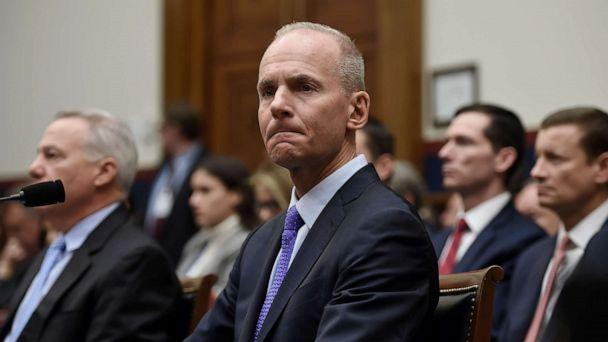 PHOTO: Boeing CEO Dennis Muilenburg arrives to testify at a hearing in front of congressional lawmakers on Capitol Hill in Washington,D.C., Oct. 30, 2019. (Olivier Douliery/AFP via Getty Images, FILE)