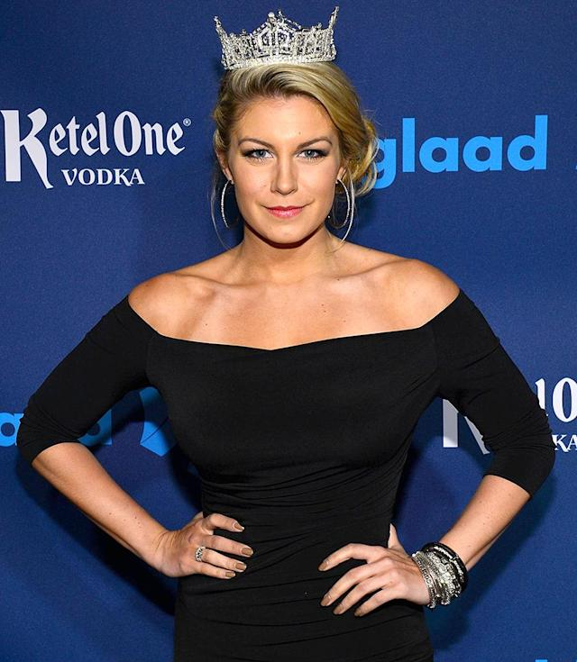 Miss America 2013, Mallory Hagan. (Photo: Larry Busacca/Getty Images for GLAAD)