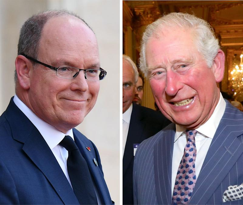 Prince Albert (L) and Prince Charles. (Photo: Reuters)