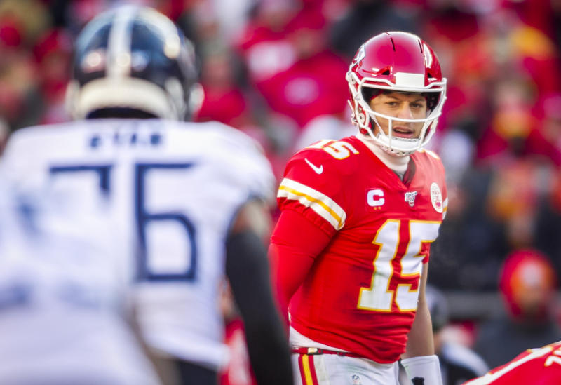 Kansas City Chiefs quarterback Patrick Mahomes could rewrite the record books with an extra regular season game and potential extra playoff game. (Photo by Nick Tre. Smith/Icon Sportswire via Getty Images)