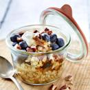 <p>In this no-cook overnight oatmeal recipe, just quickly reheat the oats in the morning and top with berries, maple syrup and pecans for an easy, on-the-go breakfast.</p>