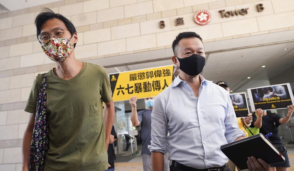 Eddie Chu (left) and Raymond Chan will appear in court on Thursday. Photo: Winson Wong