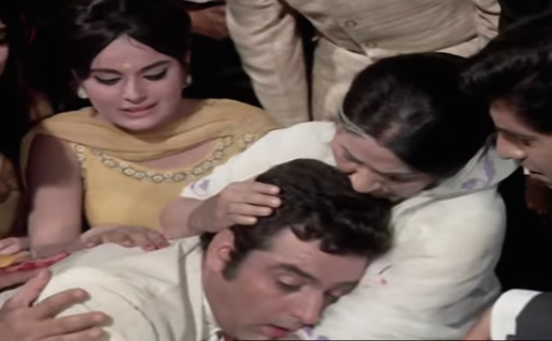 <p>As Dharmendra's sister in the Yash Chopra-directed Aadmi Aur Insaan. </p>