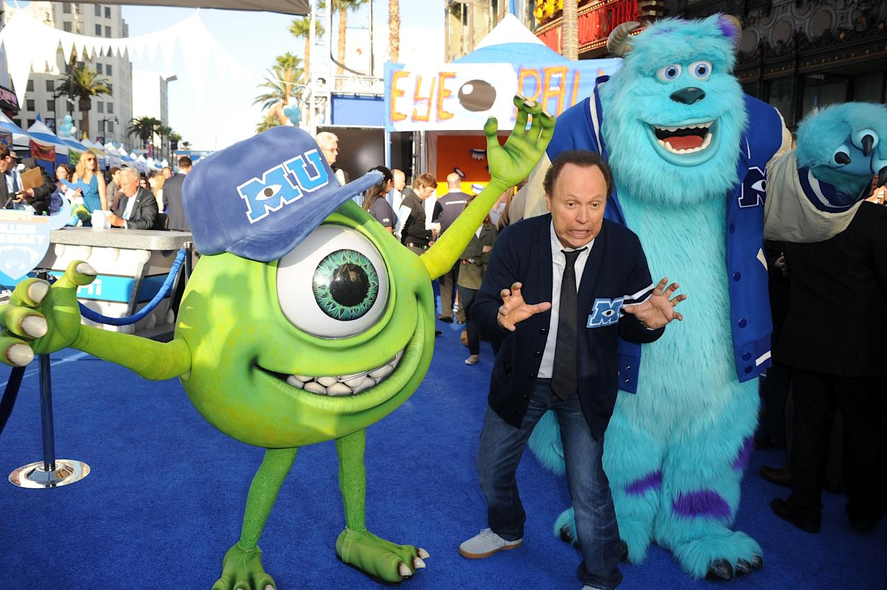 "HOLLYWOOD, CA - JUNE 17: Actor Billy Crystal attendst the world premiere of Disney Pixar's ""Monsters University"" at the El Capitan Theatre on June 17, 2013 in Hollywood, California. (Photo by Kevin Winter/Getty Images)"