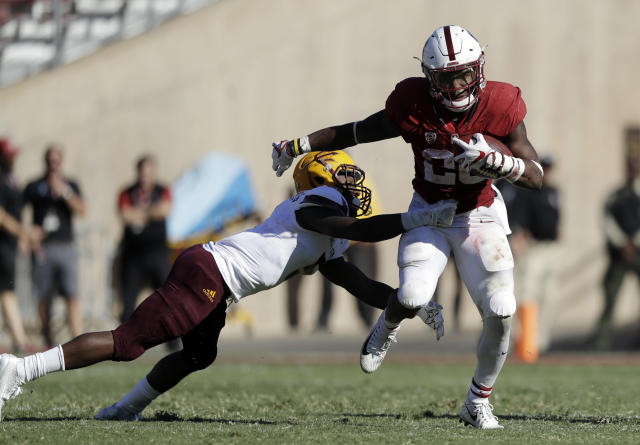 Bryce Love is helping Stanford get over losing Christian McCaffrey. (AP)