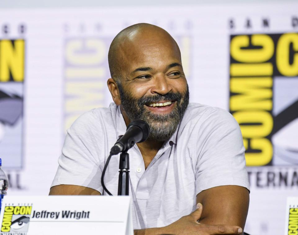 """SAN DIEGO, CALIFORNIA - JULY 20: Jeffrey Wright at """"Westworld"""" Comic Con Panel 2019 on July 20, 2019 in San Diego, California. (Photo by Jeff Kravitz/FilmMagic for HBO)"""