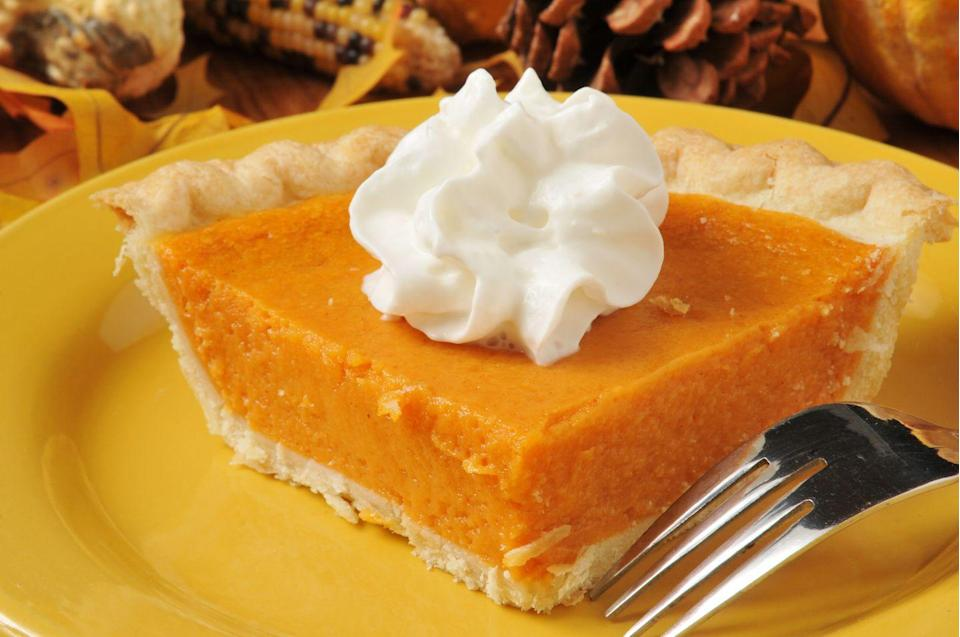 """<p>Sweet potatoes aren't just a side dish, they also make up a popular dessert. Sweet potato pie is often thought of as the Southern version of pumpkin pie. In the <a href=""""https://www.kansas.com/living/food-drink/article3792059.html"""" rel=""""nofollow noopener"""" target=""""_blank"""" data-ylk=""""slk:16th century"""" class=""""link rapid-noclick-resp"""">16th century</a>, after Europeans introduced pumpkin pie to people in West Africa, sweet potato pie took off: they made the pie with sweet potatoes and yams, which were native to Africa and easier to find. It soon became a staple with families across America.</p>"""