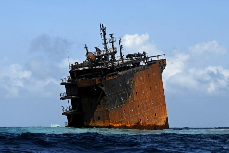 Officials fear the ship's oil could leak into the Indian Ocean