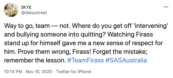 """One fan slammed the recruits, telling Firass to """"prove them wrong"""". Photo: Twitter"""