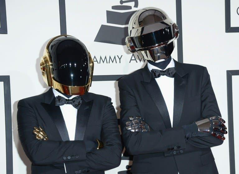 Daft Punk aux 56e Grammy Awards à Los Angeles le 26 janvier 2014 - Jason Merritt © 2019 AFP