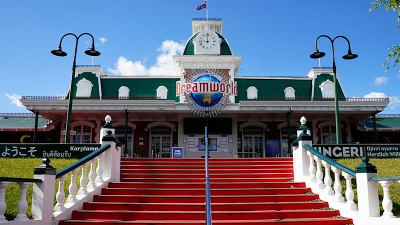 Pictured is the entrance to Dreamworld.