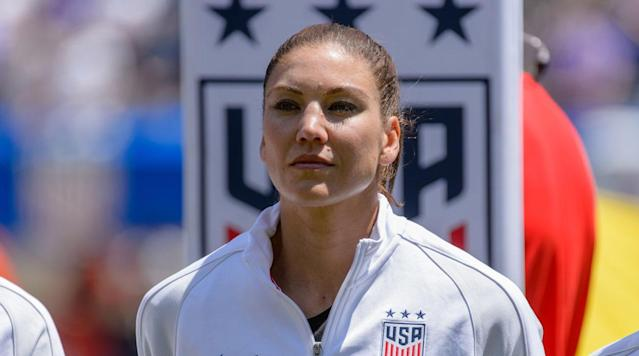 """<p>U.S. Soccer will honor Hope Solo for making 200 appearances with the U.S. women's national team at the upcoming game against Denmark on January 21, SI.com has learned.</p><p>Solo's contributions on the field have been inarguable. She hit 200 caps during the 2016 Olympics and has won one World Cup title and two Olympic gold medals. She is arguably the greatest goalkeeper in U.S. Soccer history for either gender.</p><p>There will no doubt be some awkwardness at the event on the 21st as well. Solo, <a href=""""https://www.si.com/soccer/2017/12/20/us-soccer-election-final-candidates-president"""" rel=""""nofollow noopener"""" target=""""_blank"""" data-ylk=""""slk:who is currently running for U.S. Soccer president"""" class=""""link rapid-noclick-resp"""">who is currently running for U.S. Soccer president</a>, was suspended for six months after her controversial comments following the elimination of the U.S. at the Olympics, and the federation terminated her contract. Solo has been highly critical of coach Jill Ellis and recently criticized the popularity of U.S. teammate Alex Morgan on the """"Why I'm Not…"""" podcast.</p><p>Solo currently has 202 caps. She has not announced her retirement from international soccer.</p>"""