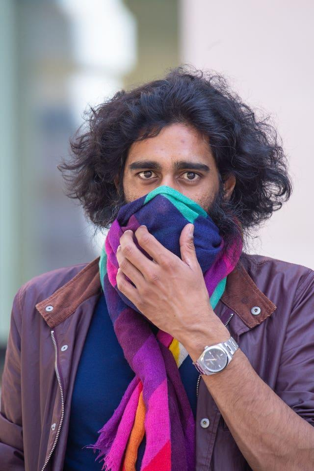 Nishil Patel leaves Westminster Magistrates' Court in London